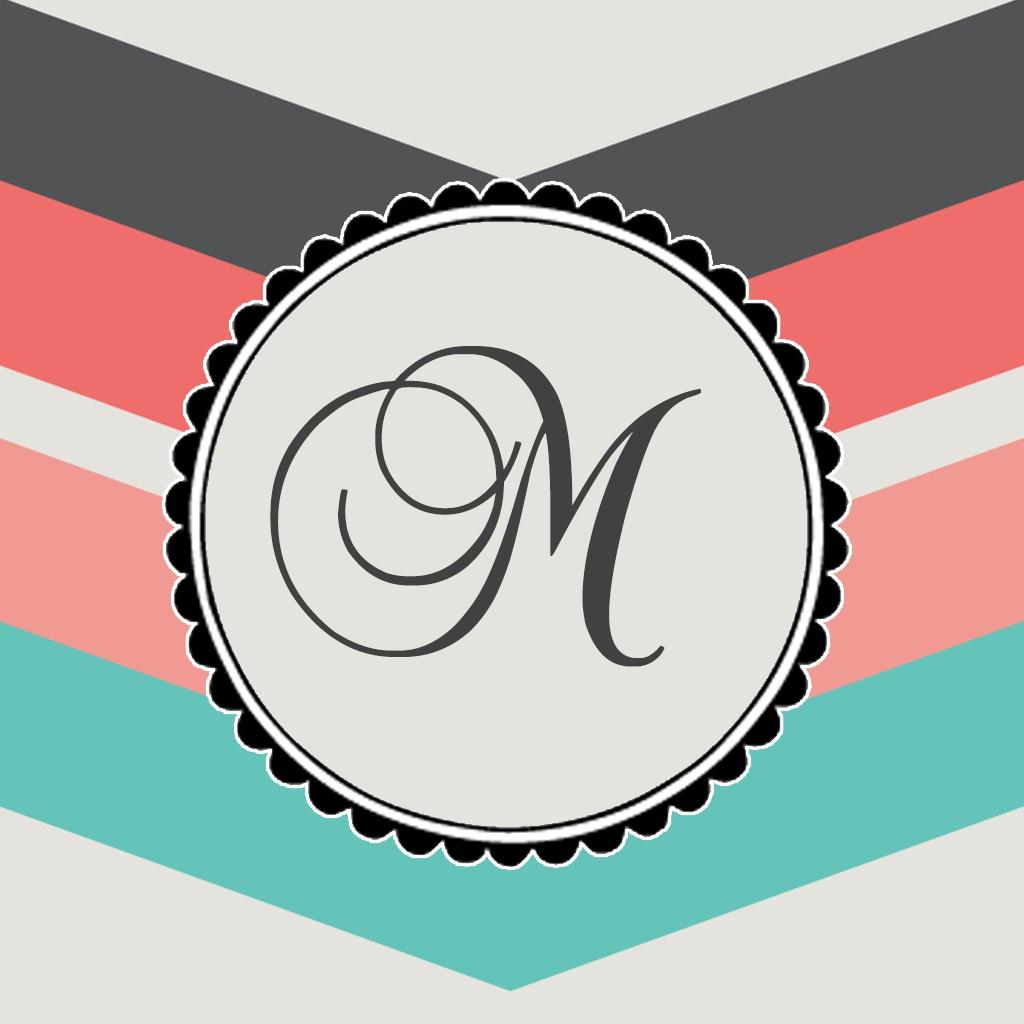 Downloadable monogram wallpaper